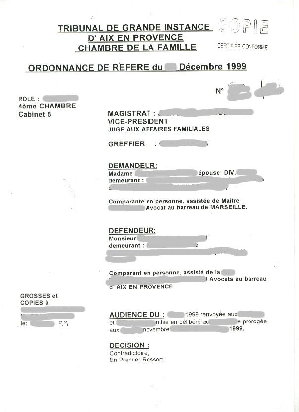Un jour un document - Tribunal d instance de salon de provence ...